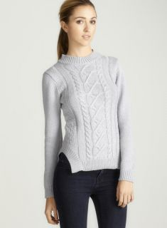 Vivienne Tam Long Sleeved Cable Knit Sweater