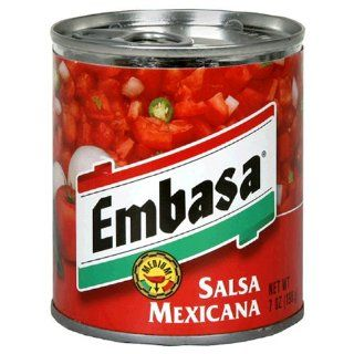 Embasa Salsa Mexicana, 7 Ounce Cans (Pack of 12) Grocery