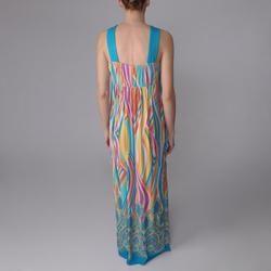 Sangria Womens Retro Print Long Maxi Dress