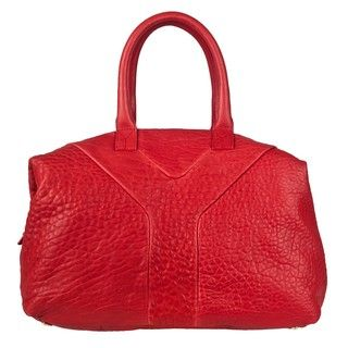 Yves Saint Laurent Red Textured Leather Handbag