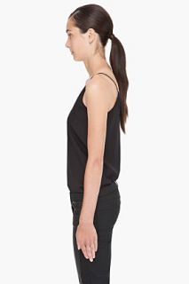 T By Alexander Wang Black Silk Cami Tank Top for women