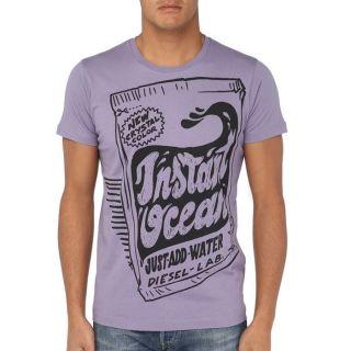 DIESEL T Shirt Homme Mauve   Achat / Vente T SHIRT DIESEL T Shirt