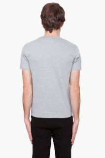 Comme Des Garçons Play  Grey Gold Foil T shirt for men