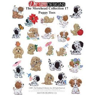 Morehead Puppy Toes Great Notions Embroidery Designs on a