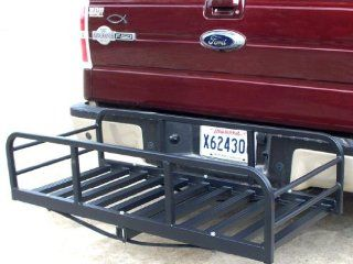 Premium USA Auto Truck SUV Hitch and Ride Black Cargo Carrier Rack