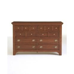 Broyhill Modern Country 8 Drawer Dresser and Mirror Set