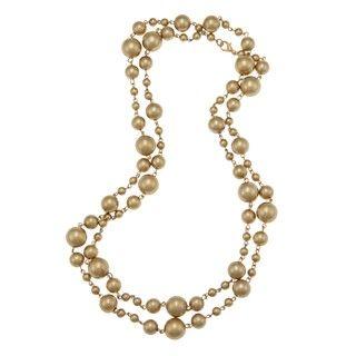 Alexa Starr Goldtone Golden Faux Pearl Necklace