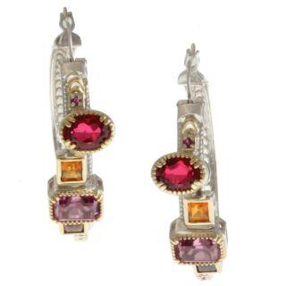 Michael Valitutti Two tone Multi gemstone Earrings Today $143.99 4.0
