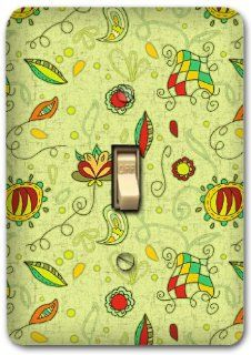 Floral Metal Light Switch Plate Cover Home Decor 224