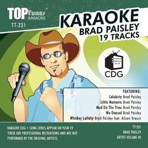 Brad Paisley Top Tunes Karaoke TT 231 Brad Paisley Music