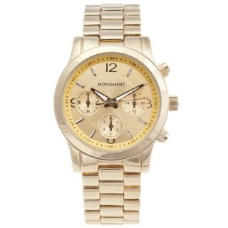 Monument Womens Gold tone Sport Watch Today $34.49 4.3 (3 reviews