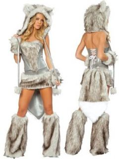 Sexy Fur Big Bad Wolf Complete Costume   LARGE Clothing