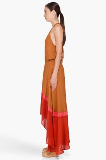 Haute Hippie Brown Silk Halter Dress for women