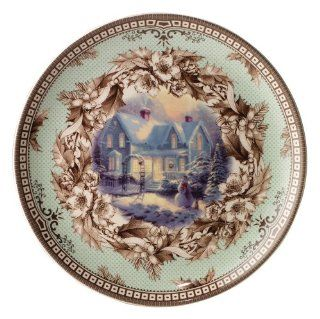 Spode Thomas Kinkade Cottage Annual Plate   Blessings of