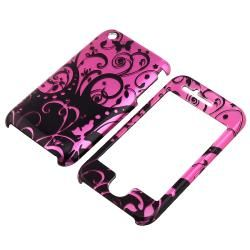 Purple/ Black Swirl Snap on Case for Apple iPhone 3G/ 3GS