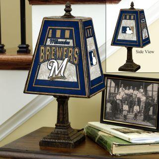 Milwaukee Brewers 14 inch Art Glass Lamp