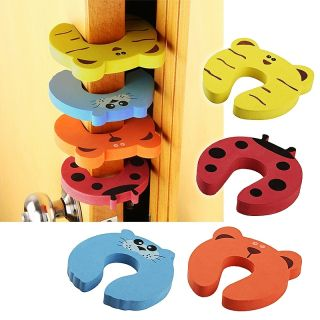 BasAcc 4 pieces Mixed Color Door Stop Finger Pinch Guard