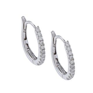14k White Gold 1/5ct TDW Diamond Hoop Earrings (F G, VS1 VS2) Today $