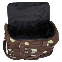 Jenni Chan 18 Inch Dots Brown/ Green City Carry On Duffel Bag