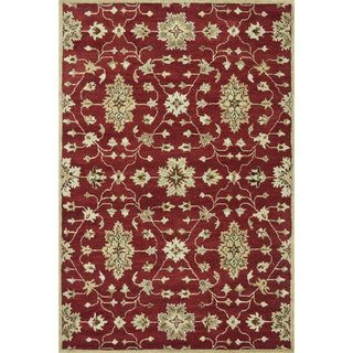 Hand tufted Wilson Red/ Multi Wool Rug