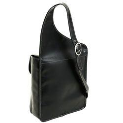 Siamod Sabotino Vertical Leather Messenger Bag