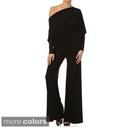 Tabeez Womens Black Jersey Draped Jumpsuit Today $59.99 Sale $53.99