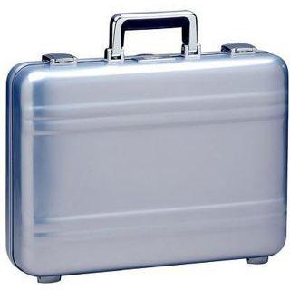 Zero Halliburton 5 inch Polished Blue Elite Aluminum Attache Case