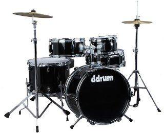 ddrum D1 JR Complete 5 piece Drum Set, Black Musical