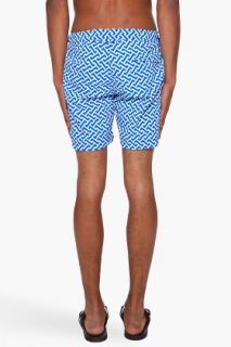 Orlebar Brown Blue Printed Bulldog Swim Shorts for men