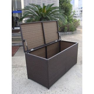 All Weather Wicker Storage Box