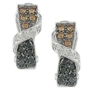 14k White Gold 3/4ct TDW Fancy Diamond Earrings