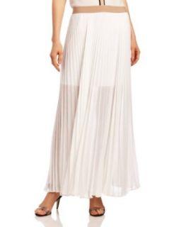 BCBGMAXAZRIA Womens Estel Sunburst Pleated Maxi Skirt