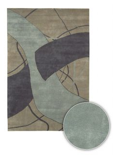 Contemporary Hand knotted Mandara Wool Rug (8 Round)