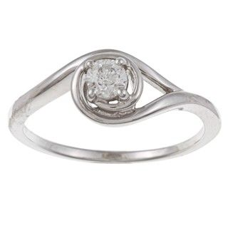 Sterling Silver 1/5ct TDW Diamond Solitaire Ring (H I, I1)