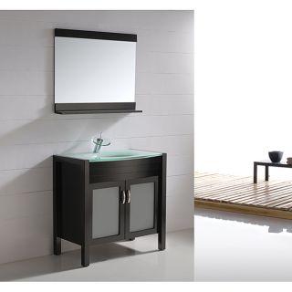 Espresso Finish 35.5 inch Single sink Bathroom Vanity Set Today $889