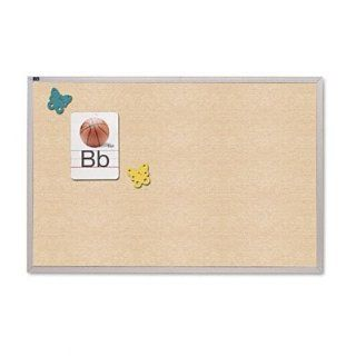 Quartet Vinyl Tack Bulletin Board, 4 x 6 Feet, Antique