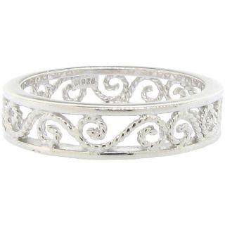 14 karat Gold Plating over Sterling Silver Cutout Filigree Ring