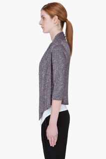 Haute Hippie Grey Sequin Cardigan for women