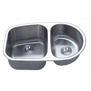 Undermount Stainless Steel 16 Gauge Double Bowl Kitchen Sink