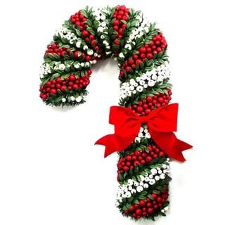 White and Red Pepper Berry Candy Cane (27 inch)