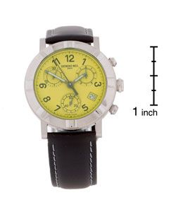 Raymond Weil Mens Chronograph Green Dial Strap Watch