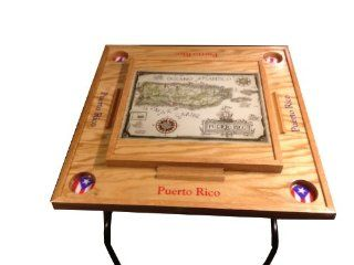 Puerto Rico Domino Table with the map Sports & Outdoors