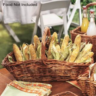 Sterno Oblong Jakarta Cane Flared 2 piece Basket Set (case of 3
