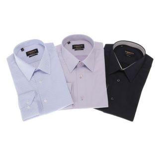 TORRENTE COUTURE 3 Chemises Mahon/Doumer/Lincoln Blanc/bleu ciel, bleu