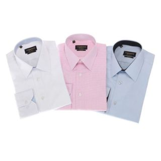 TORRENTE COUTURE 3 chemises Doumer/Mahon/MacMahon Blanc/bleu ciel