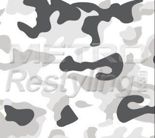 Large White Snow Camouflage Vinyl Wrap Decal Adhesive Backed Sticker