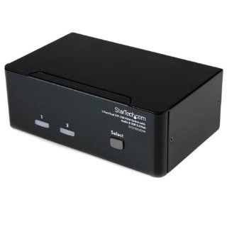 StarTech 2 Port Dual DVI USB KVM Switch with Audio and