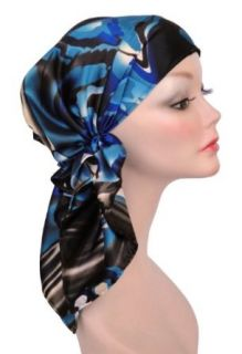 Turban Plus Bella Scarf Azure Elegance Print: Clothing