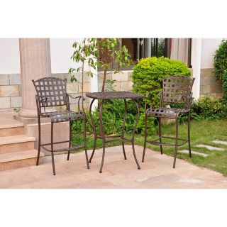 Santa Fe Nailhead 3 piece Iron Bar Height Bistro Set Today $299.99