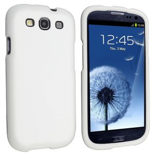 White Snap on Rubber Coated Case for Samsung© Galaxy S III